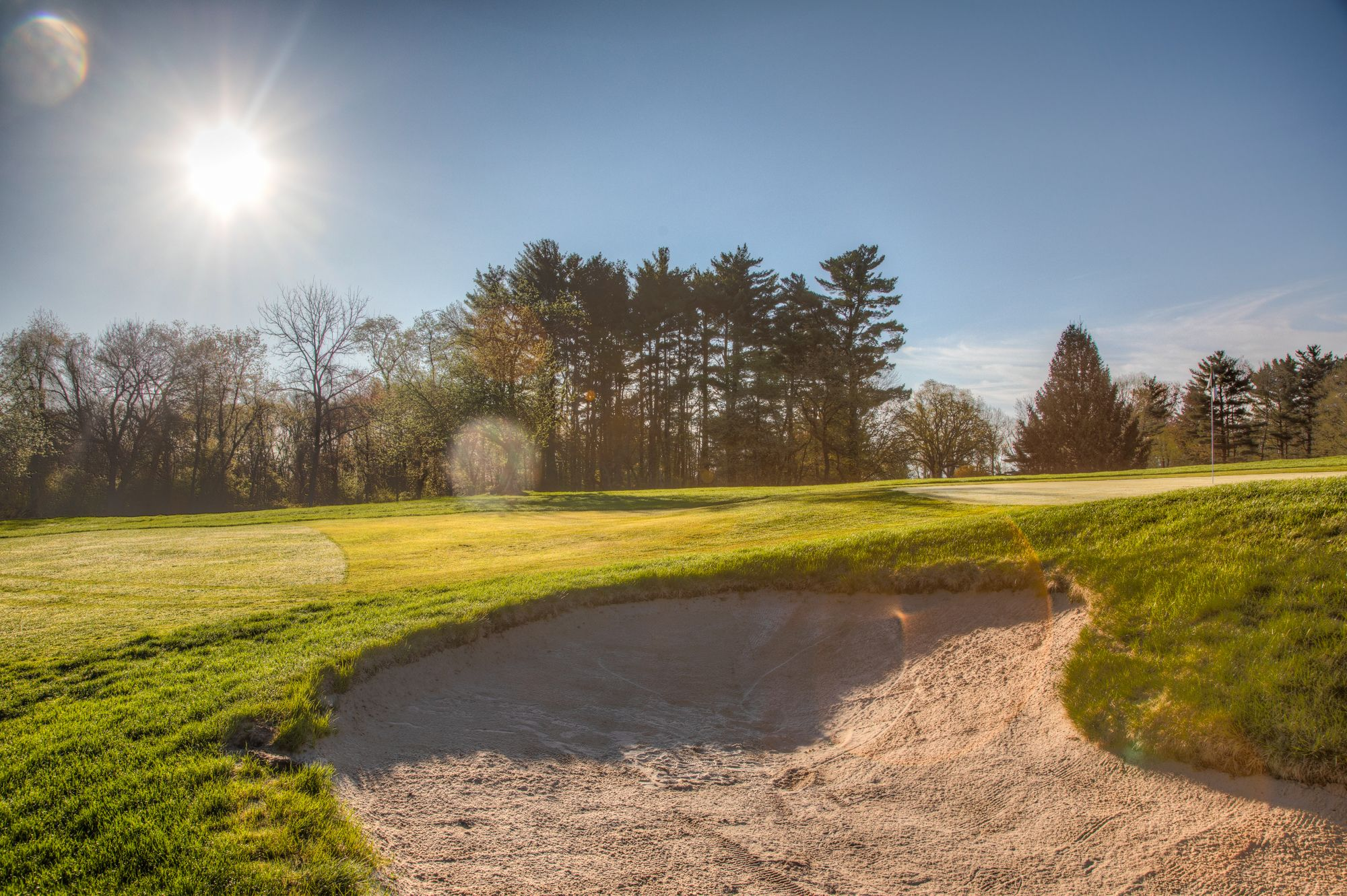 beautiful scenery of hole number 13 at Wiltwyck in Kingston NY