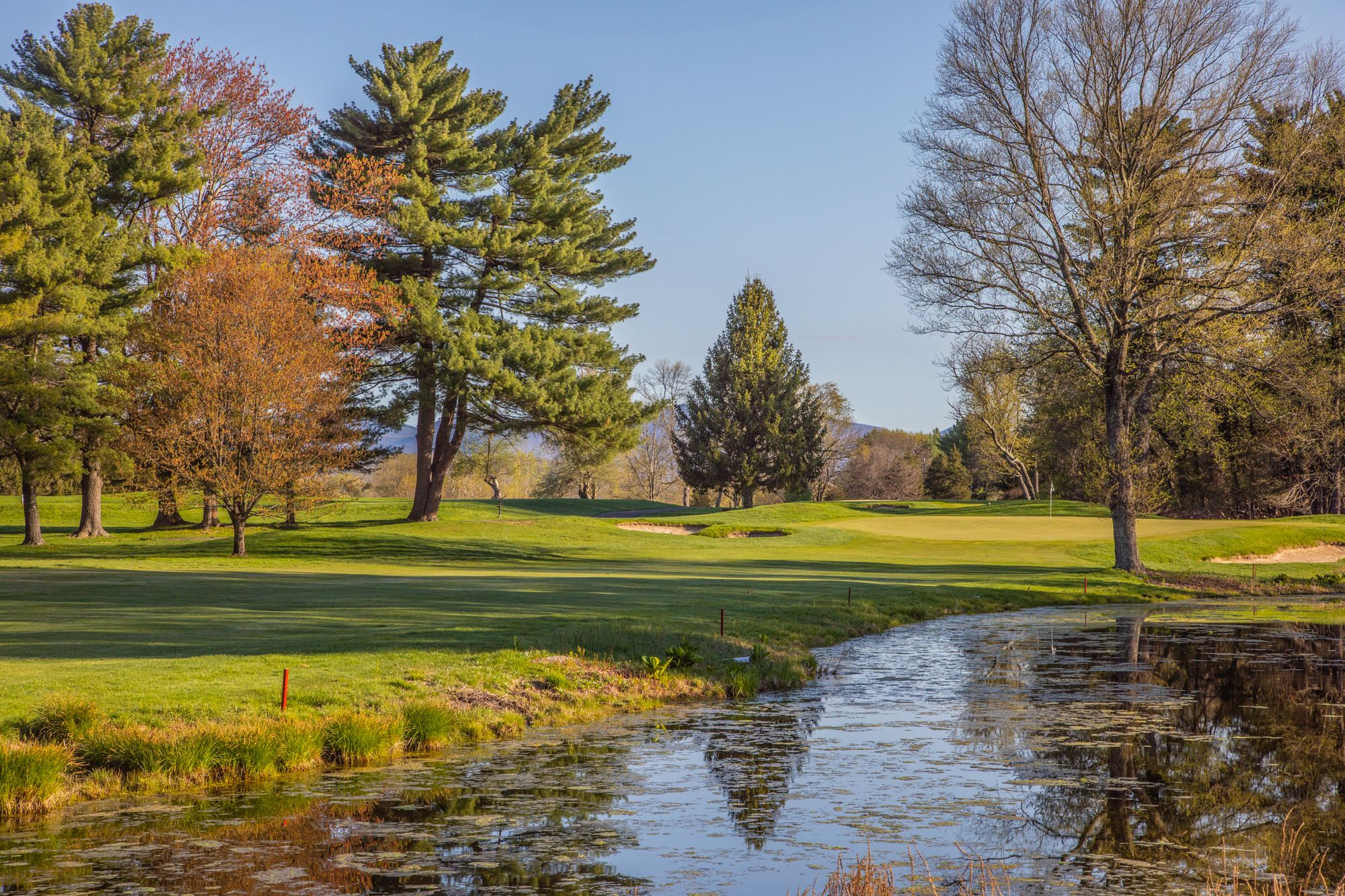 beautiful scenery of hole number 15 at Wiltwyck in Kingston NY