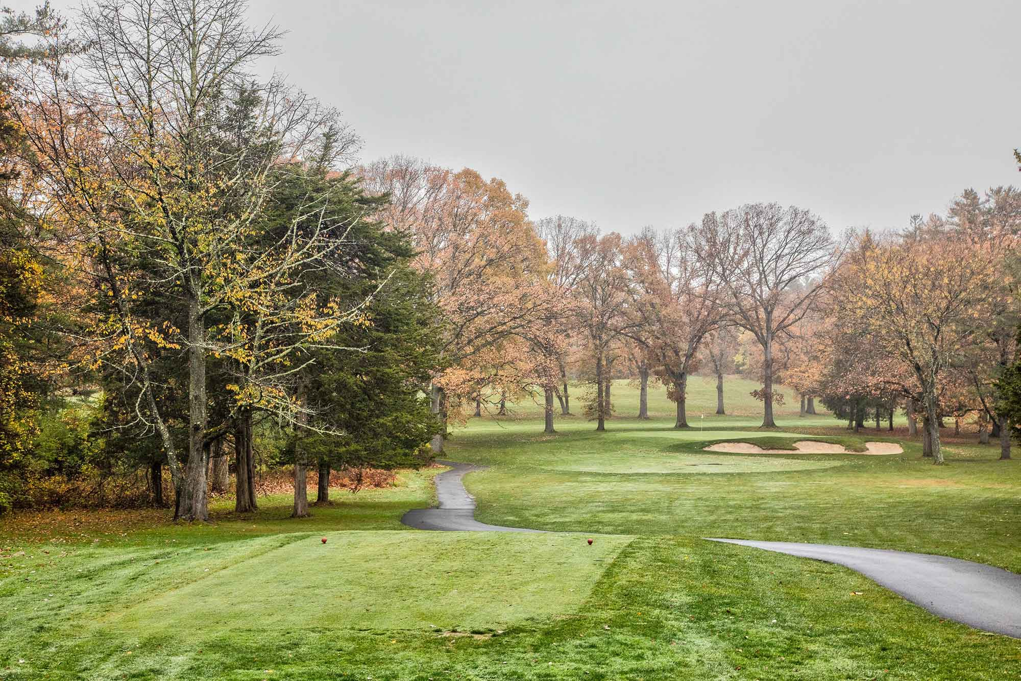 beautiful scenery of hole number 5 at Wiltwyck in Kingston NY